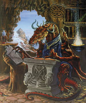 A dragon reading Richard's stories